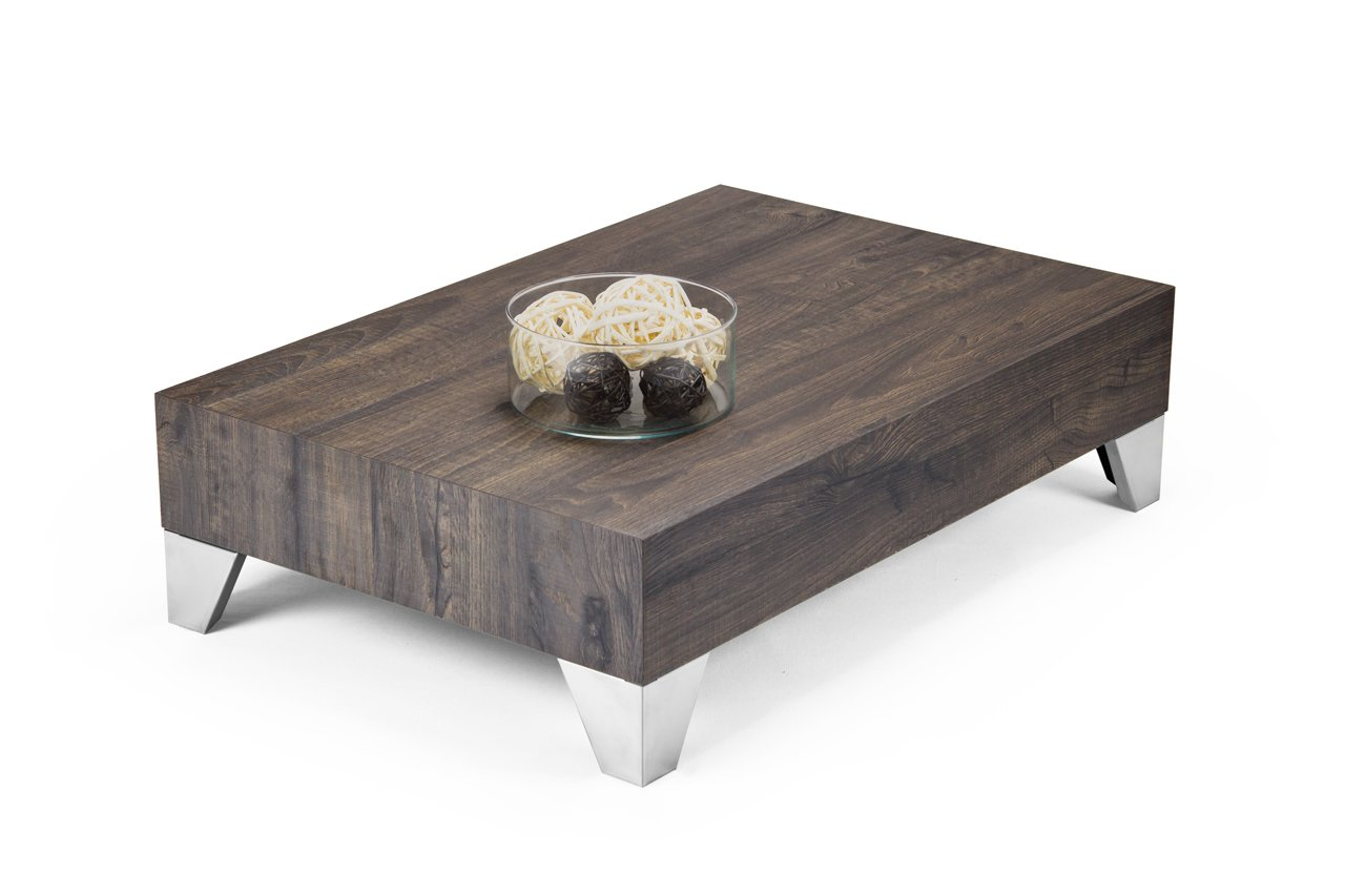 Modern stylish evolution 90 coffee table wood brown x for Coffee table 60 x 60