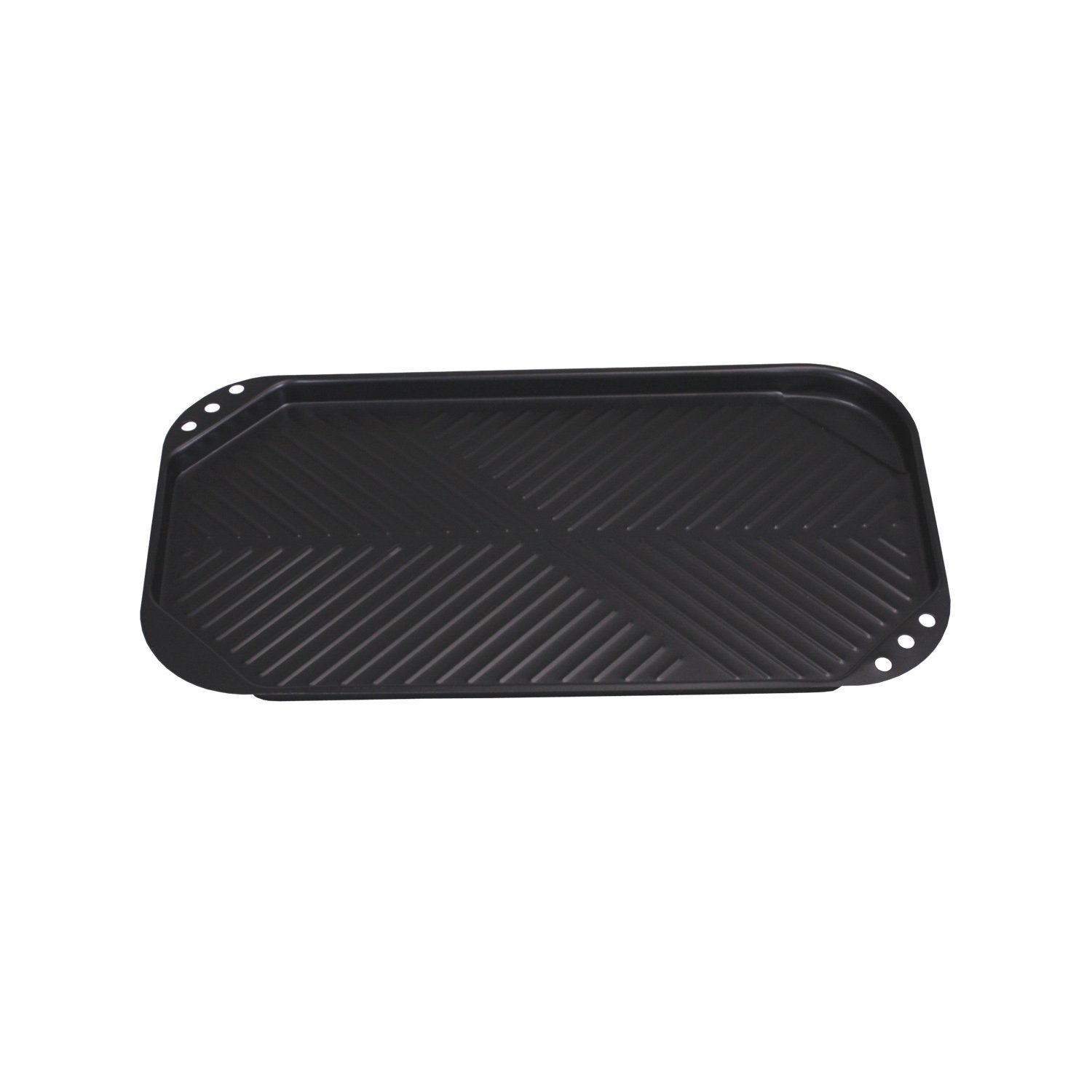 Home Basics Non-Stick Carbon Steel Grill Plate, Black