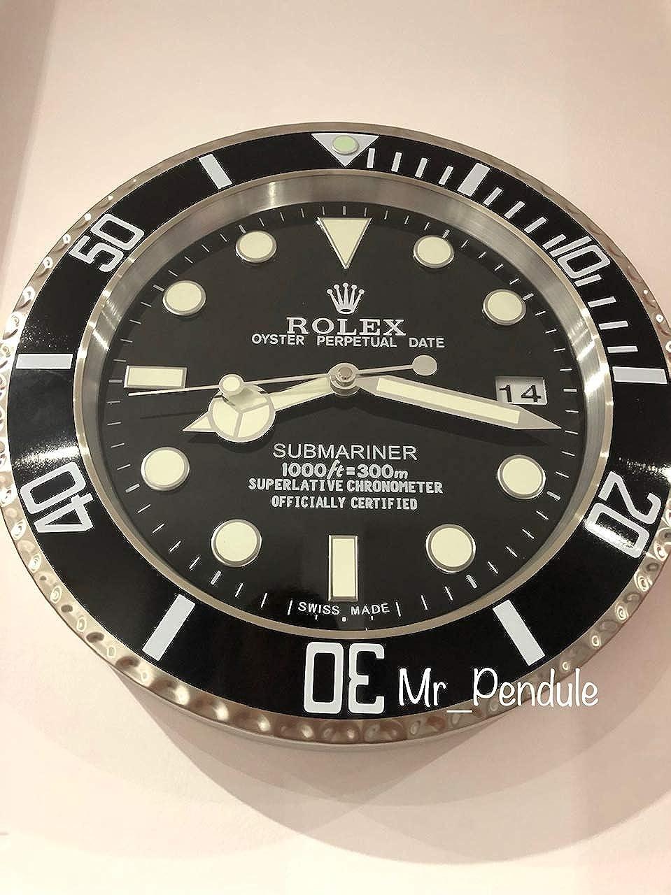 Rolex Replica Rolex Submariner Classic Black Wall Clock: Amazon.co.uk:  Watches