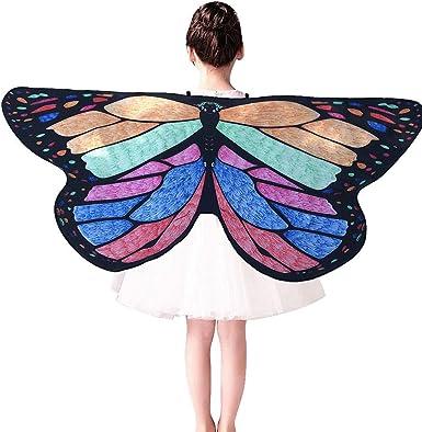 Cinnamou Disfraces Mariposas de NiñA, Disfraz de Alas Ninfa con ...