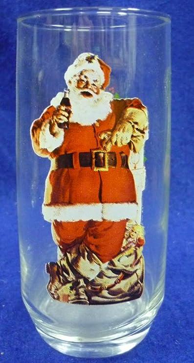 One 1946 Haddon Sundblom Coca-Cola Santa Christmas Glass Two of Three Series II