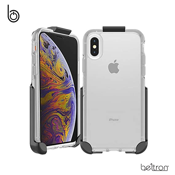 reputable site cbf7a 3d19e Belt Clip Holster Compatible with OtterBox Symmetry Clear Series Case for  iPhone Xs & iPhone X (OtterBox Symmetry Clear Case not Included)