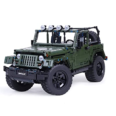 WOLFBSUH Race Car Jeep Wrangler Adventurer Building Set STEM Toy, 2078Pcs 1:8 Building Blocks and Engineering Toy Sports Car Model: Toys & Games