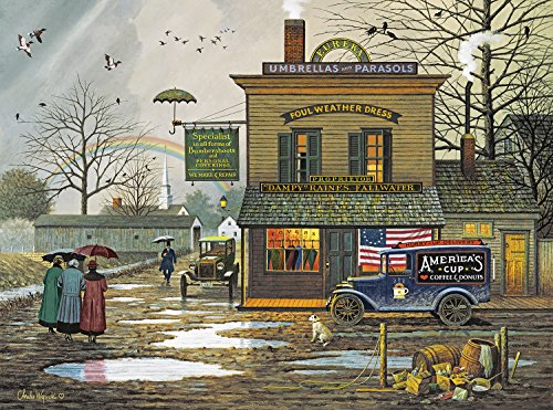 Buffalo Games - Charles Wysocki - Dampy Donuts on a Dreary Day - 1000 Piece Jigsaw Puzzle -