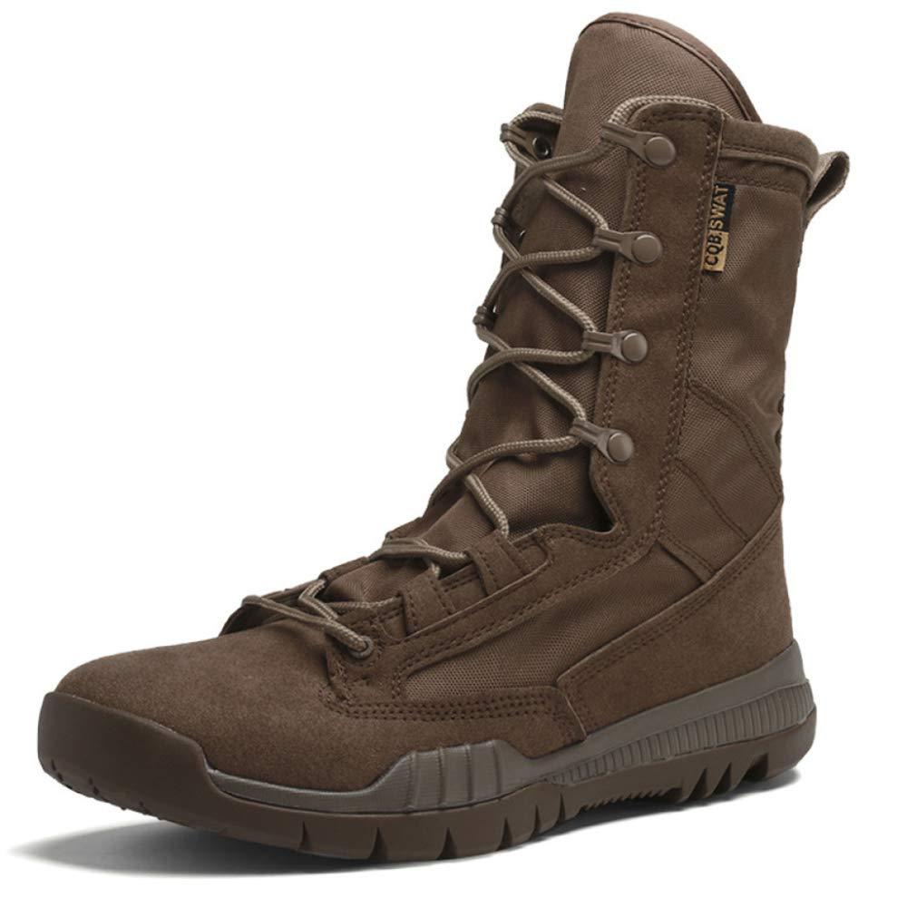 Military Tactics Hommes Bottes Désert Extérieur Forces Spéciales Chaussures Army Patrol Combat Boot Confortable Chaussures Spéciales De Sécurité Respirante 39|Brown f5c219