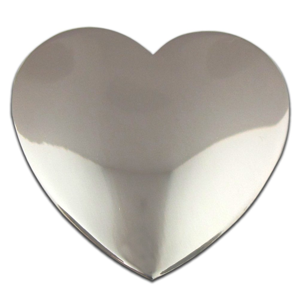 PinMart's Classic Shiny Silver Heart Valentine's Day Lapel Pin