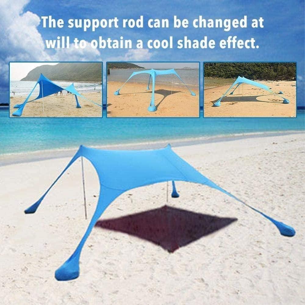 FUSSUF Playa Familia Parasol Ligera Parasol de toldo con Sandbag Anclas c/ómodo for los Parques de Camping al Aire Libre