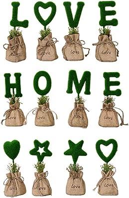 Harilla 12ピース/個素朴な手紙盆栽小袋花見植物庭デスクトップ装飾