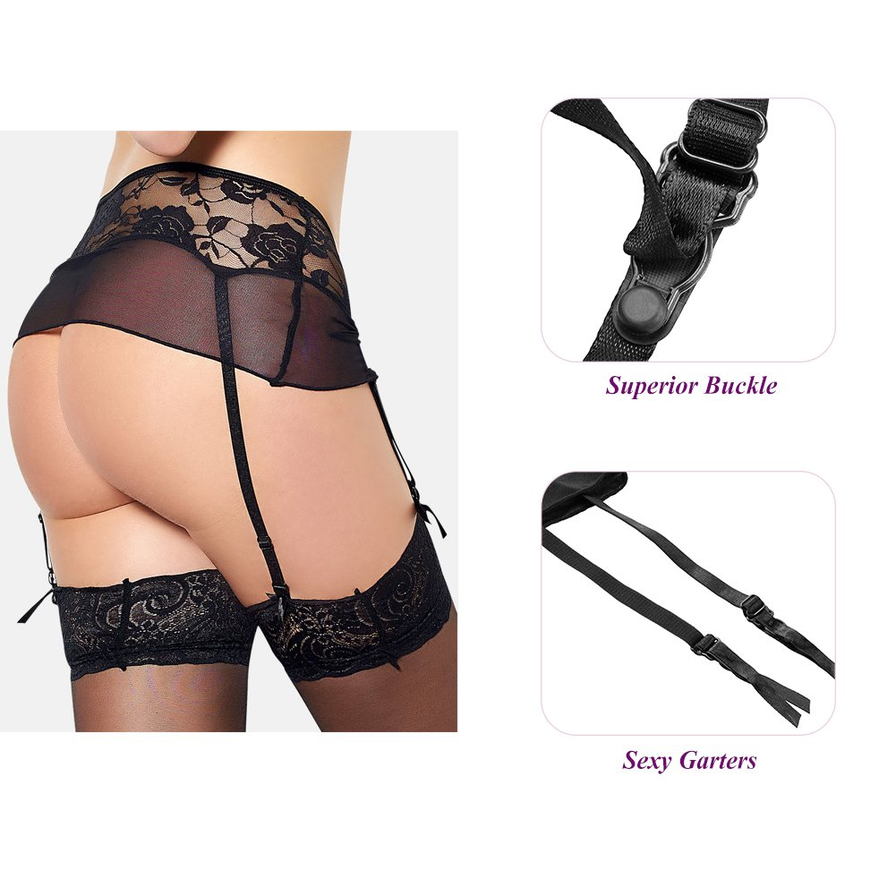 Amazon.com  Utimi Sexy Lingerie Lace Girdle Enticing Panties Women Underwear  with Garters (M)  Health   Personal Care eb1d8ff3d