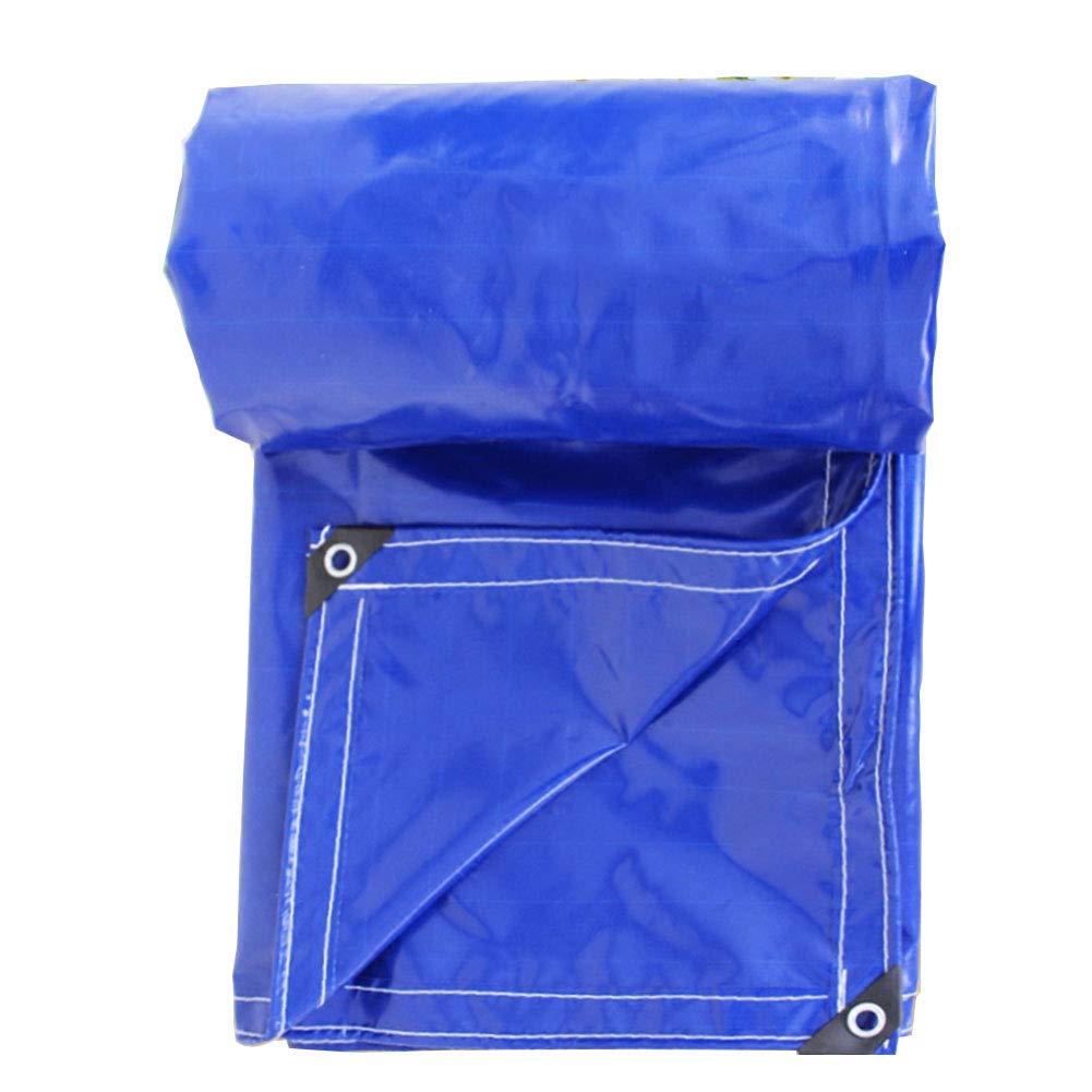 ZEMIN オーニング サンシェードテン トタープ ヘビー 防水 アウトドア シェード 金属製のボタンホール ポリエチレン、 マルチサイズ (色 : 青, サイズ さいず : 3x3m) 3x3m 青 B07R2MZ4X3
