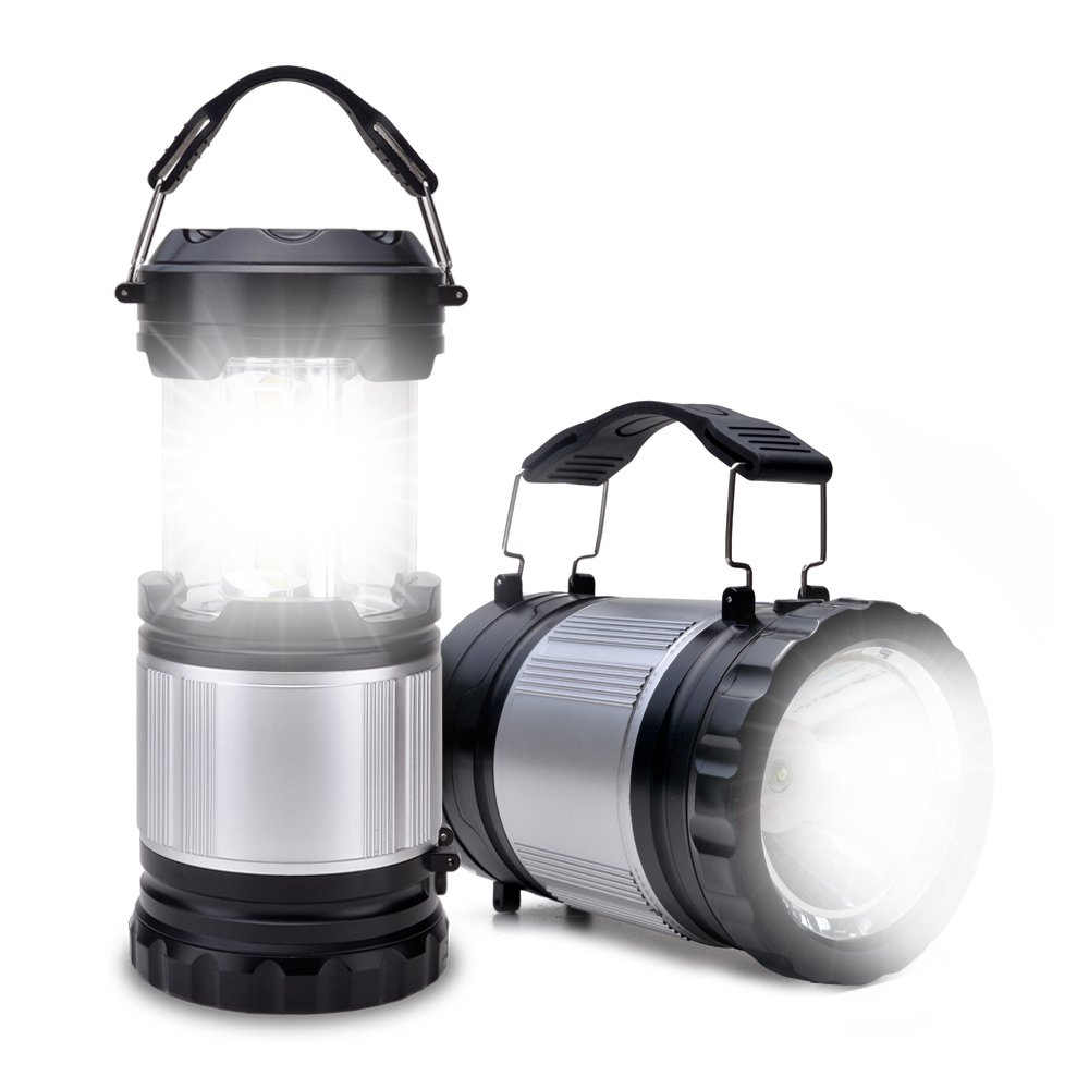 ODOLAND Linterna camping con linterna, 2-en-1 300 Lumen LED del trabajo portátil - Mejor engranaje de tiendas de campaña, Senderismo, Pesca y Emergencias OD0139-UN