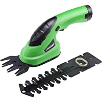 Lichamp 2-in-1 Electric Hand Held Grass Shear Hedge Trimmer Shrubbery Clipper Cordless Battery Powered Rechargeable for…