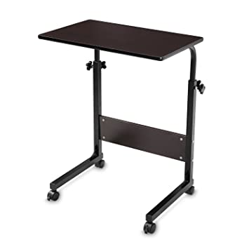 BUREICouch Laptop Table On Wheels Lap Desk Adjustable Table For Sofa BUREI  (Black)