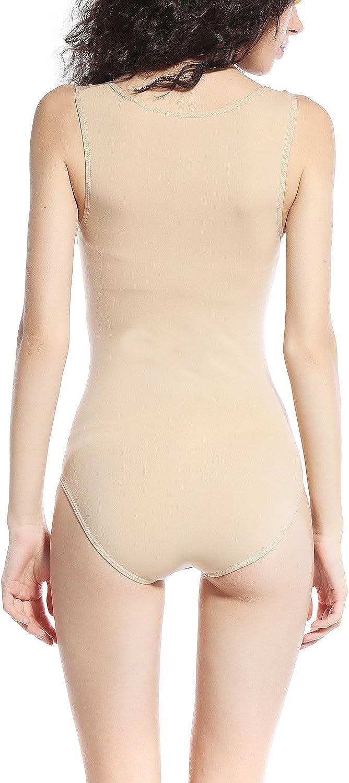 KHAYA Womens Seam Free Body Shaper Slimming Bodysuits Sleeveless Tank Leotard