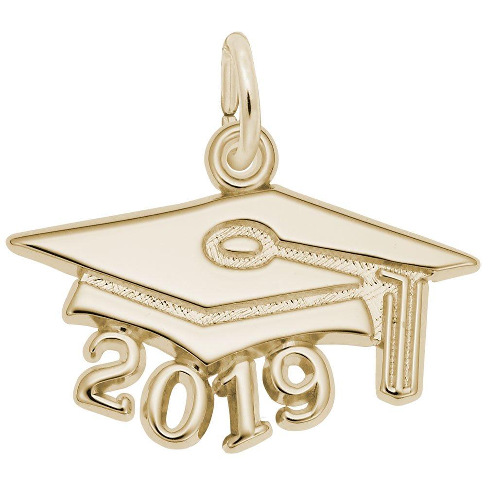 Rembrandt Charms, 2019 Graduation Cap, Large, 14k Yellow Gold, Engravable