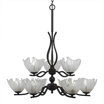 Amazon.com: toltec lighting 249-dg-759 Revo 9 luz lámpara de ...
