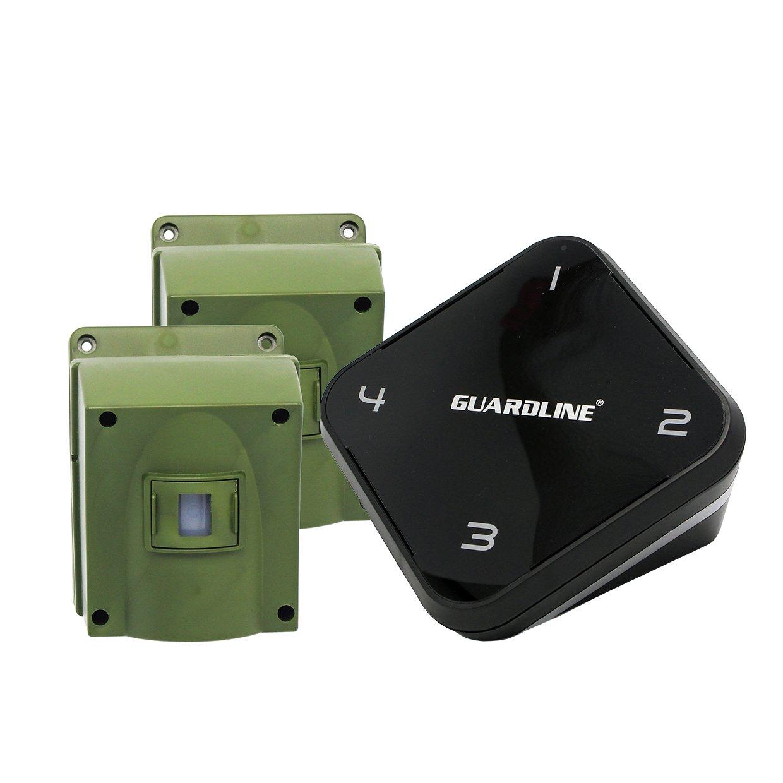 1/4 Mile Long Range Wireless Driveway Alarm w/ Two Sensors Kit. Top Rated Outdoor Weatherproof Motion Sensor/Detector- Best DIY Security Alert System- Protect Home, Perimeter, Yard, Garage, Pool