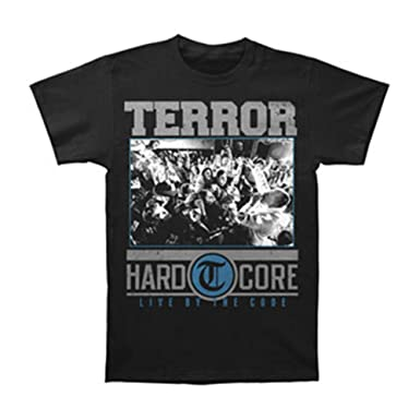 Terror Mens Hardcore Black T-shirt Small Black