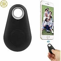 3Keys Anti-Lost/Theft Device - Smart Finder Bluetooth Locator GPS Pet Tracker Alarm Wireless Anti-Lost Sensor Remote Selfie Shutter Seeker for Kids Bag Wallet Keys Car Smartphone (Black)