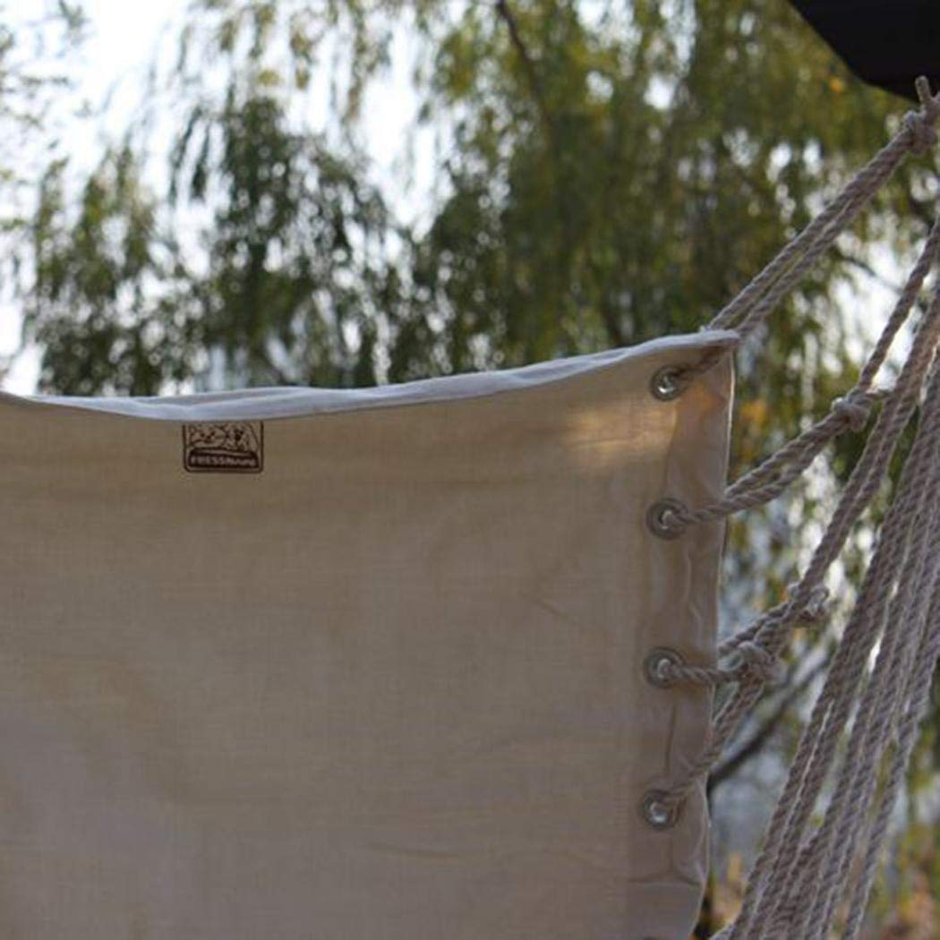 Bibmmo Canvas Swing Chair Rope Garden Dormitory Outdoor Hanging Swinging Safe Seat Lounge Chairs