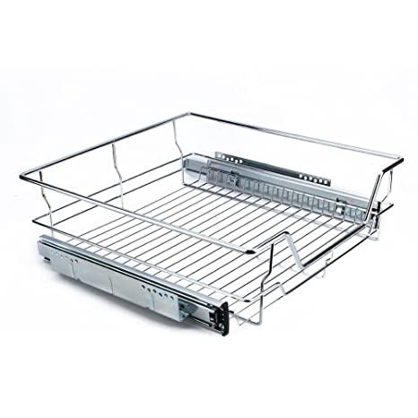 Yosoo Cestos Extraíbles para Mueble de Cocina on Guías Telescópicas, Cajón Telescópico con Superficie de