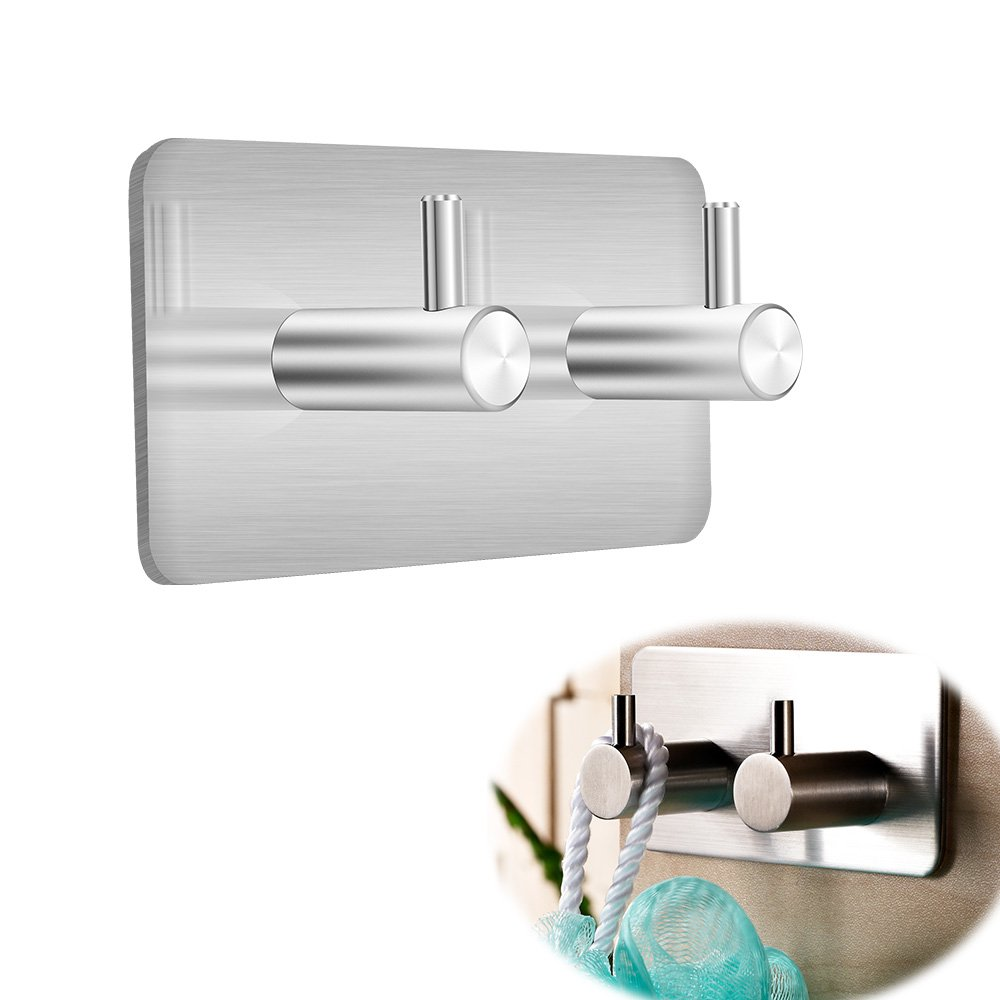 asiv 8ST Heavy Duty Wall Hooks for Hanging Swan style Bathroom or Bedroom With 2Screw Holes