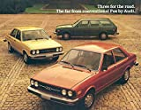 1979 Audi Fox Sales Brochure