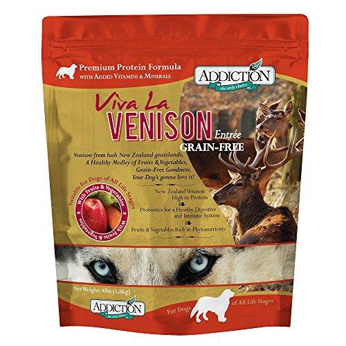 Addiction Viva La Venison Grain Free Dry Dog Food, 4 Lb.