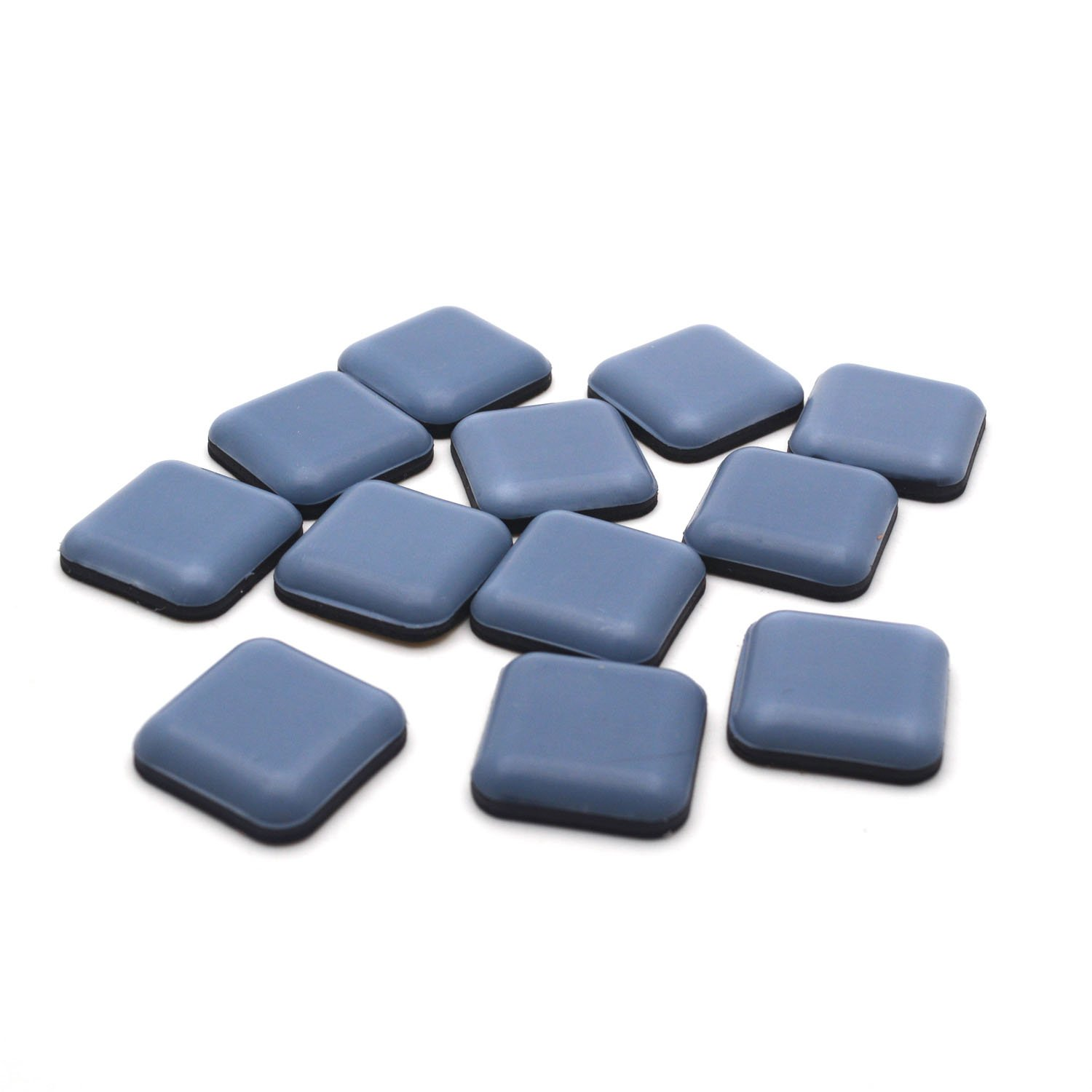 """Antrader 12Pack Furniture Gliders 1"""" x 1"""" Square Carpet Flooring Coaster Magic Mover Moving Sliders Pads Navy"""