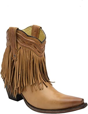corral booties with fringe