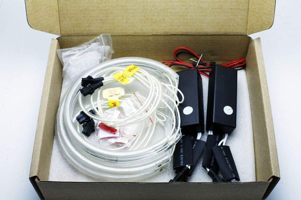 CCFL Angel Eyes Kit 2 x 131 mm 2 x 146 mm CANBUS E46 E90 E91 ohne Projektor wei/ß 6000 K Angel Eyes Halo Ringe