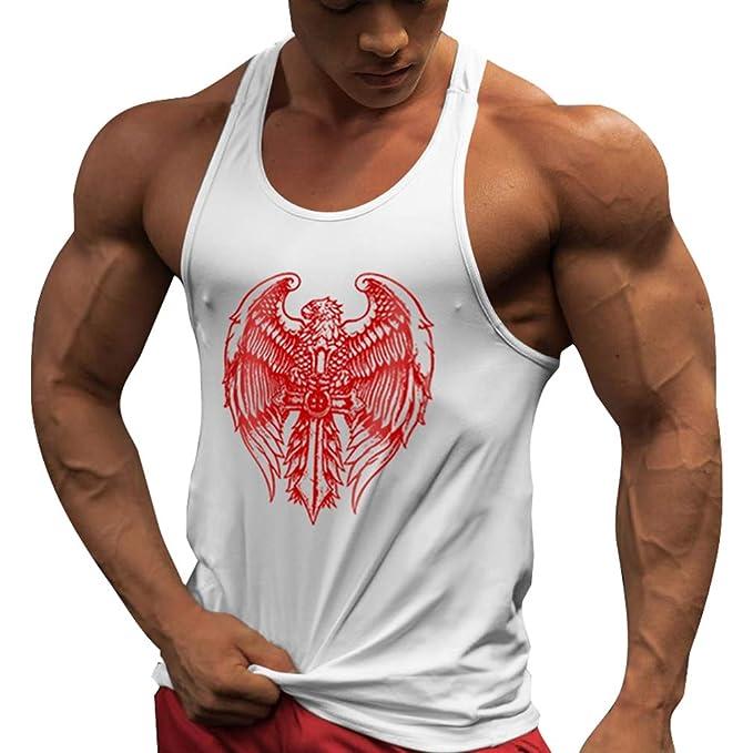 WEIMEITE Canotta Fitness Canotta Uomo Stringer Bodybuilding Muscle Shirt  AllenaUomoto Canotta Palestra Canottiera  Amazon.it  Abbigliamento 0486867faab