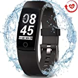 MorePro Waterproof Health Tracker, Fitness Tracker Color Screen Sport Smart Watch,Activity Tracker Heart Rate Blood Pressure Calories Pedometer Sleep Monitor Call/SMS Remind Smartphones Gift