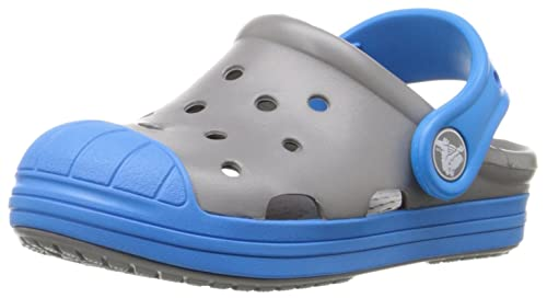 CROCS /'Classic Kids/' Sea Blue Slip-on Rubber Casual Clogs.