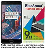 BlueArmor Tempered Glass Screen Guard Protector for OnePlus 3/OnePlus 3T (Transparent)