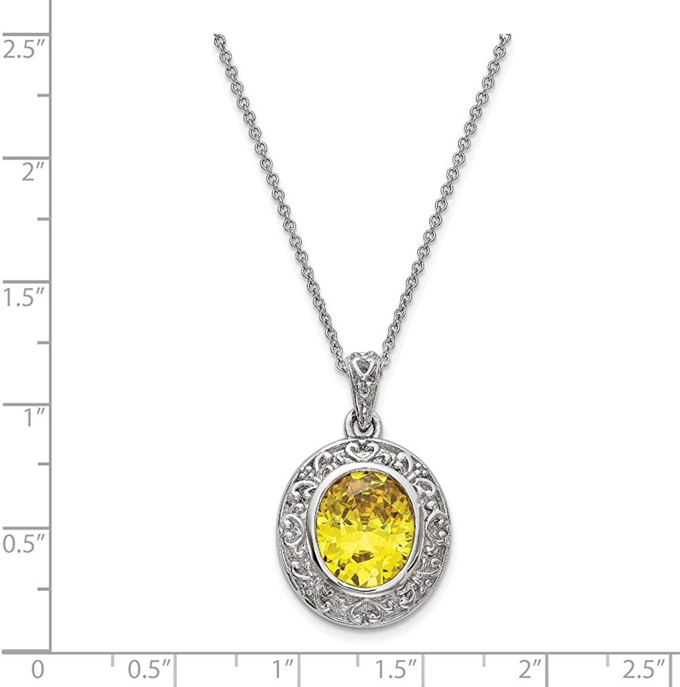 Jewelry Necklaces Necklace with Pendants Sterling Silver CZ Old Friends Are Golden 18in Necklace