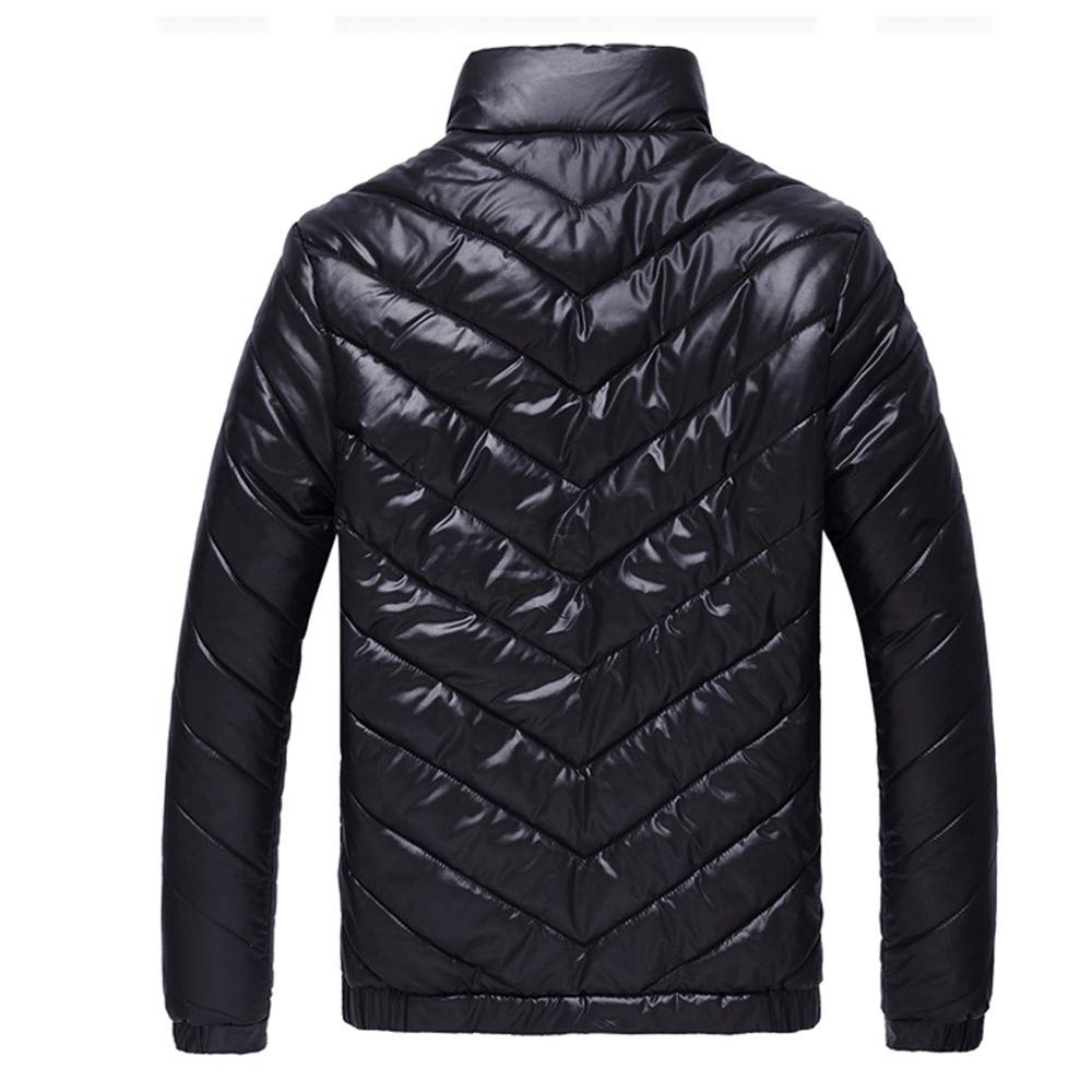 1fc20d29698ff Allywit Men's Lightweight Stand Collar Quilted Packable Down Coat Puffer  Jacket Big and Tall at Amazon Men's Clothing store: