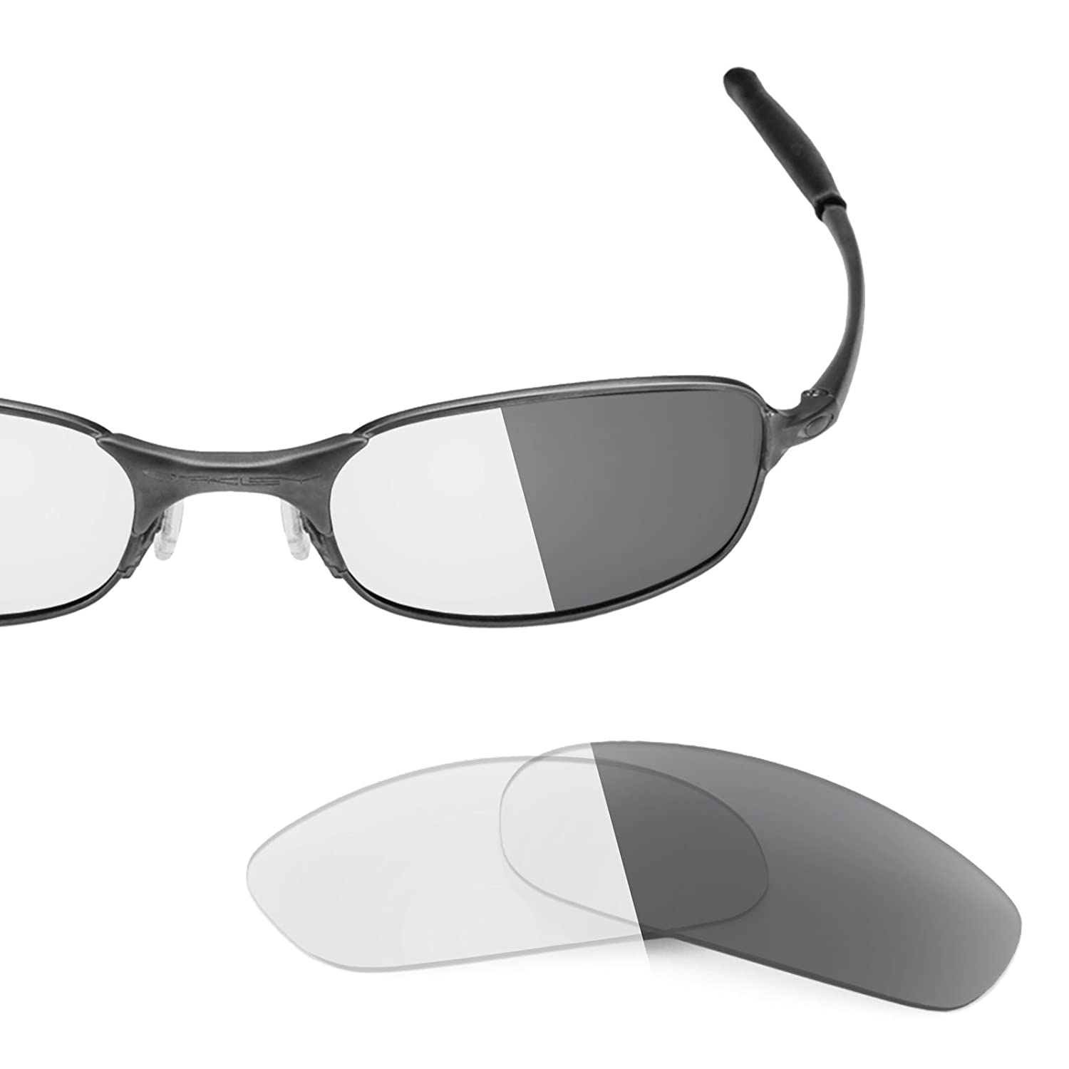 6e25b1440b00b Revant Replacement Lenses for Oakley Square Wire 2.0 Elite Adapt Grey  Photochromic  Amazon.co.uk  Clothing