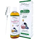 HillDews Sesame Oil | 200ml | Unrefined | Cold Pressed Carrier Oil | Skin & Hair