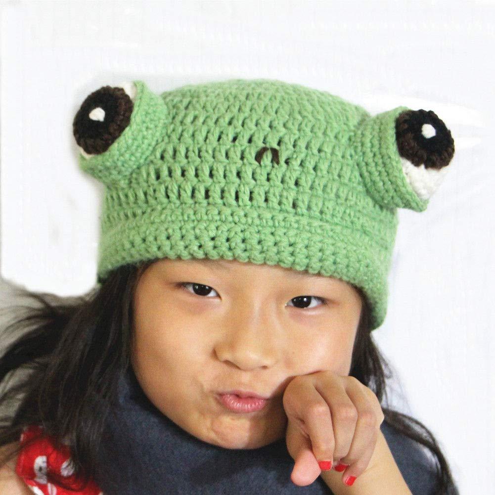 BIBITIME Knit Fog Hat Handmade Eye Beanie Adult Kid Halloween Photograph Prop