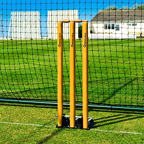 (Fortress Spring Back Cricket Stumps - Standard Size - Cricket Training Equipment)