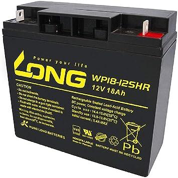 Batería de plomo AGM 18 Ah 12 V para cortacésped, tractor, cortacésped, barco, scooter, 17 Ah, 19 Ah, 20 Ah, 22 Ah, 23 Ah: Amazon.es: Electrónica