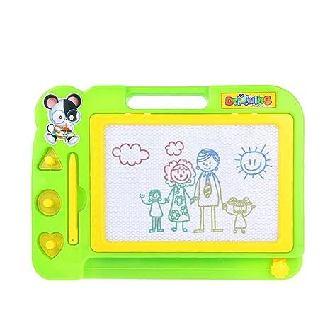 FastDirect Pizarra Magnética Infantil Tablero de Dibujo Escritura 27,5 x 20 x 2cm Pizarra Mágica para Niños (Verde)