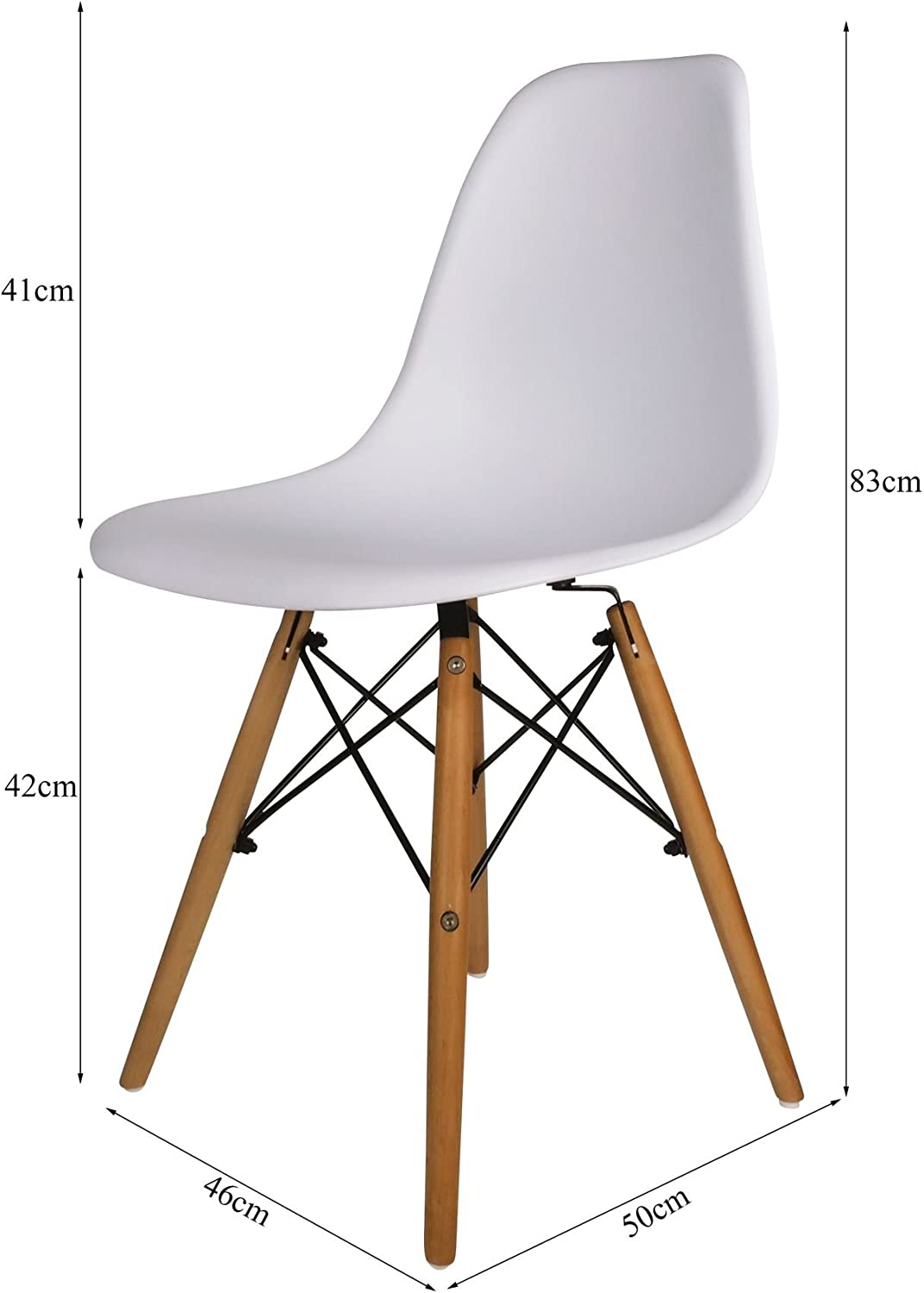Lounging Kitchen Terrace Patio Office Cosy7 Luna Collection Eiffel Style DSW Modern Dining Chairs Olive Set of 4 Solid Beech Wooden Legs For Living Room Well Blended Colours Comfy Seat