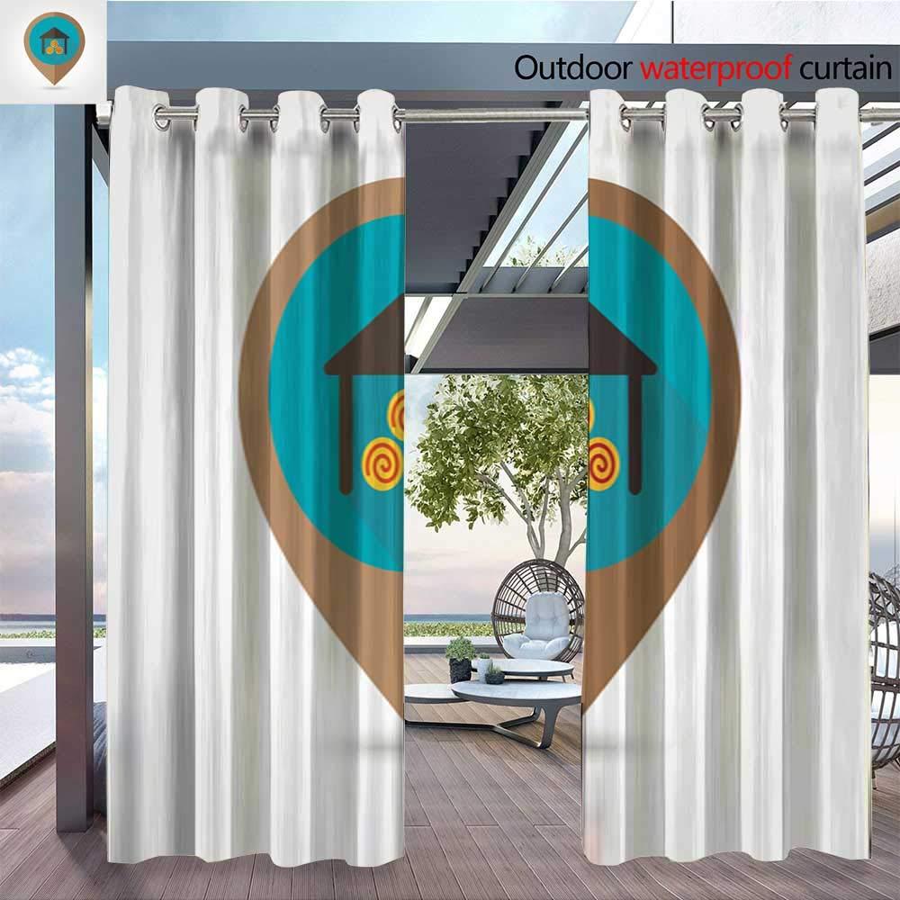 QianHe Outdoor- Juego de cortinas de privacidad para exteriores ...