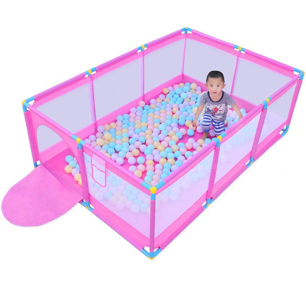 テントキッズボールピット、幼児用大型幼児ボールピットテント、屋内屋外ベビーボールフェンス用子供、ジッパードア付き、ボールなし(ピンク)サイズ74.8 x 51.18 x 25.6インチ   B07QYMRG34