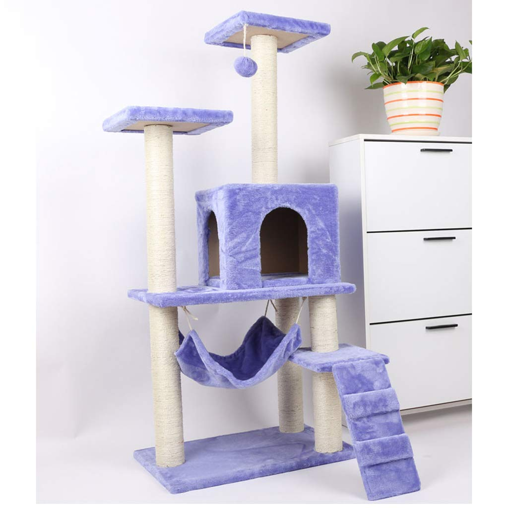 B Pet nest cat climbing frame cat tree cat scratch board cat toy cat supplies pet supplies purple