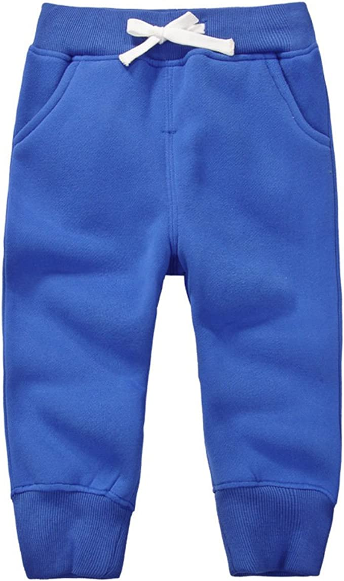 SYCLZ Toddler Baby Sweatpants Cotton Pure Color Active Jogger Pants with Pockets