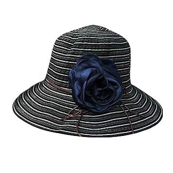 Women s Summer Foldable Sun Hat Wide Brim Beach Hat Floppy Straw Hats 52643435251