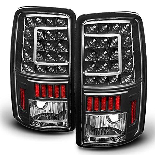00-06 Suburban Tahoe Yukon XL Denali Liftgate Model Style G2 Black LED Tail Lights Brake Lamps (Style Led Tail Lights Lamps)